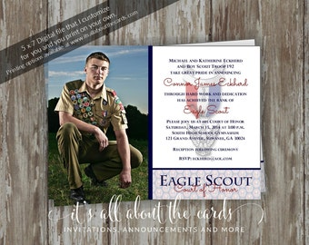 View EAGLE SCOUT INVITATIONS by ItsAllAboutTheCards on Etsy