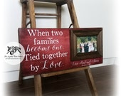 Parents Wedding Gift, Wedding Thank You Gift, Personalized Picture Frame, 8x20 The Sugared Plums Frames