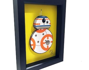 BB8 Print Art Star Wars Print Art BB8 3D pop artwork droid The Force Awakens