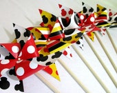Mickey Mouse Favors Minnie Mouse Favors Paper Pinwheels Birthday Favors Party Favors Birthday Decoration Table Centerpiece Mouse Ears