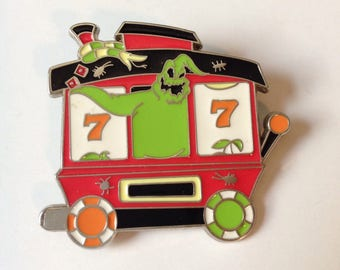 "OOGIE BOOGIE -- the Jazz-Singing Bug-Filled Villain from Tim Burton's Classic 1994 Film ""The Nightmare Before Christmas"" -- 1 of 8 Train Pin"