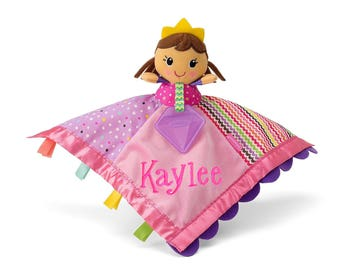 PERSONALIZED Infant Baby Security Snuggly Blankie Princess Lovie Design
