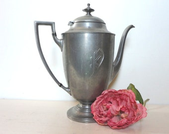 Vintage 1950's Priscilla Pewter Server for Tea or Coffee