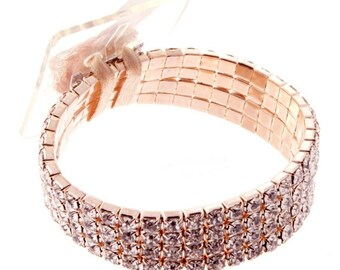 Corsage Bracelet Rock Candy Rose Gold