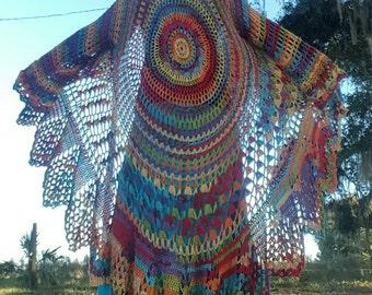 Custom Order ~ Bohemian Long Sweater ~ Hand Crocheted
