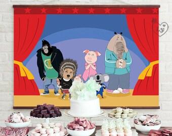 Sing Printable Backdrop | Sing Movie Backdrop | Sing Movie INSTANT DOWNLOAD | Sing Movie Party | Sing Movie Birthday | Sing | Sing Printable