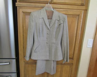 Vintage Antique 1940's WWI Era Jacket Blazer Skirt Suit
