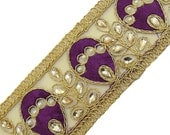 Beaded Trim By The Yard, Sewing Crafts Embellishments, Decorative Sari Border, Sewing Crafts Ribbon Trim, Sewing Accessories BT446E