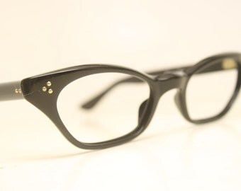 Black cat eye eyeglasses  vintage cat eye glasses frames Cateye frames