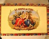 EMPTY Cigar Box for Crafting - La Aroma - Monarch