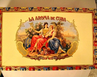 EMPTY Cigar Box for Crafting - La Aroma - Monarch