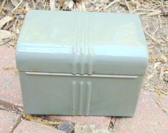Metal Box. Industrial Card Box. Industrial Office. Index Card Holder. Metal Recipe Box. vintage. Mid Century. storage box. 1960s. metal box