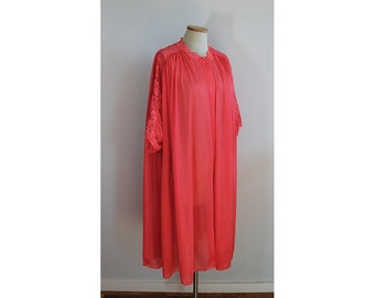 1960s Vanity Fair Short Red Robe