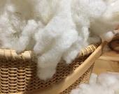 CORE local  Wool, 1 OZ   needle felting,  dryer ball, stuffing, fill a pillow, stuffed animal stuffing