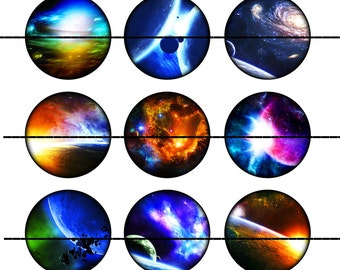 Space Magnets~Space Pins~Astronomy Magnets~Celestial Magnets~Party Favors~Gift Sets~Refrigerator Magnets~Fridge Magnets