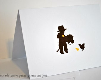 Cowboy Thank you Note Cards cowboy cards cowboy party cowboy birthday cards