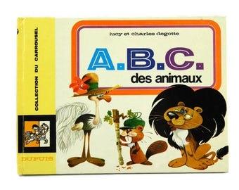 Vintage French Children's Alphabet Book ABC des Animaux Children's Nursery Decor 1960s French Illustrations