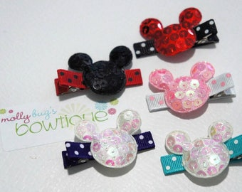 Minnie Mouse Inspired clips perfect for Disney