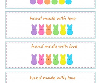 Easter Crochet Wrapper, Printable PDF, Tags Labels