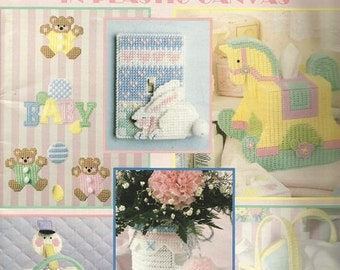 """Leisure Arts """"Our Best Baby Designs"""" Plastic Canvas Book"""