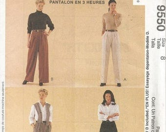 McCall's #9550 Palmer Pletsch Pants and Shorts Pattern SZ 8