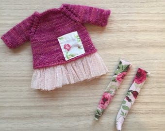 Romantic Sweater Dress Set for Blythe