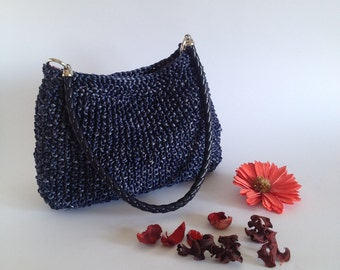 Handbag knitted bag Wedding purse Shoulder bag Summer city bag Ladies handbag