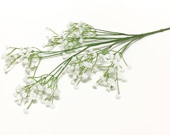 Artificial Flowers - White Plastic Baby's Breath - Gypsophila - Artificial Flowers, Greenery, Filler
