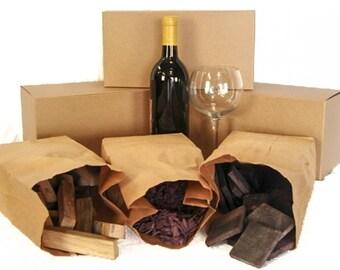 CHUNK SAMPLER - Wine Soaked Oak BBQ Smoker Chunk Sampler