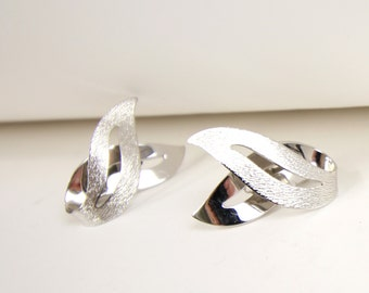 VINTAGE 1960s Silver Earrings Sarah Coventry Clip Ons