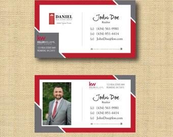 Digital File |  Custom Business Card Design Bold Stripes  |  Any Color Any Company