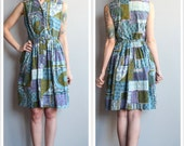 1950s Dress // Tee Turf Tiki Dress // vintage 50s dress
