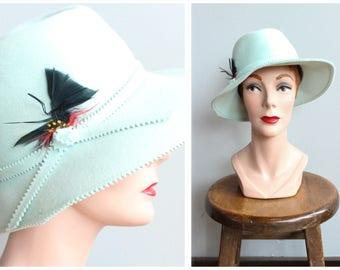 1970s Hat // Angelica Felt Hat // vintage 70s hat