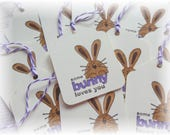 Bunny Tag - Some Bunny Loves You - Easter - Gift/Hang Tags (6)