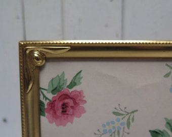 Mid Century 8 x 10 decorative Brass  Picture Frame