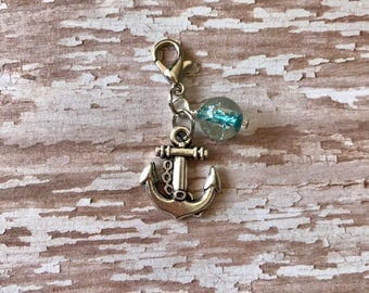 Anchor Silver Charm - Planner Charm - Travelers Notebook Charm - Midori Charm - Fauxdori Charm - Planner Charm