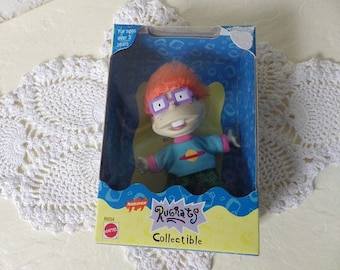"Rugrats, Charles ""Chuckie"" Finster, Jr. Collectible Figure, 1997.  New, Loose in Original box. Unused."