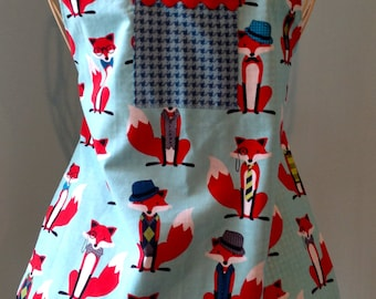Childs Apron, Unisex Fox and the Houndstooth