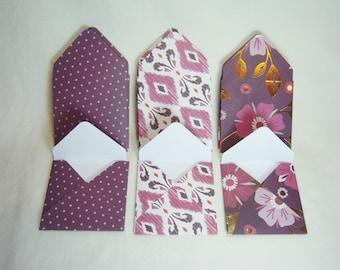 Deep Burgundy Envelopes, Pink and Burgundy Envelopes, Pink Floral Envelopes, Burgundy Floral Envelopes, Polka Dot Envelopes