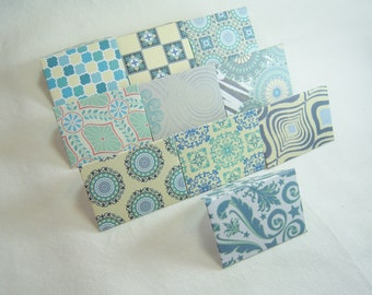 Colorful Mini Envelopes, Tiny Blue and Yellow Mini Envelopes, Set of Ten Mini Envelopes, Tiny Envelopes and Note Cards