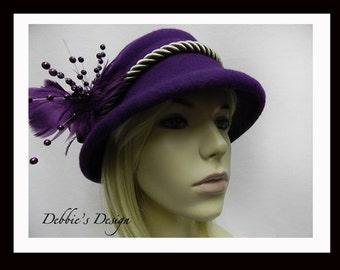 Women's Handmade Cloche Hat-508, Women's Cloche Hat, Women's Hats, Women's handmade cloche hat, Downton Abbey