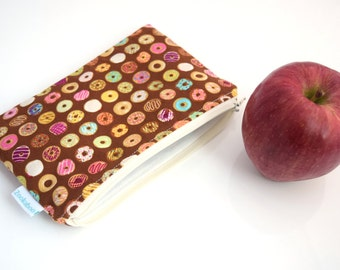 Coworker Gift - Snack Bag - Donut Bag - BPA Free Bag - Party Favors for Kids - Party Bags - Zipper Pouch - Available in Three Sizes