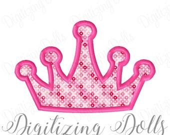 Crown Applique 2 Machine Embroidery Design 4x4 5x7 6x10 Tiara Princess Prince INSTANT DOWNLOAD