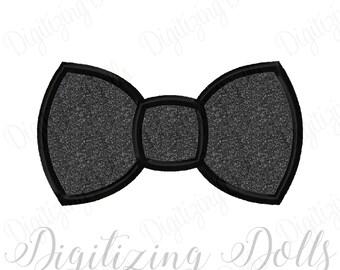 Bow Tie Applique Machine Embroidery Design 2x2 3x3 4x4 5x5 5x7 8x8 6x10 INSTANT DOWNLOAD
