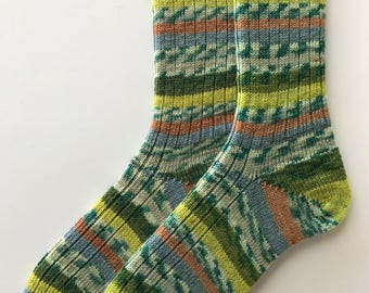 Ladies' Wool Socks,  Hand Cranked