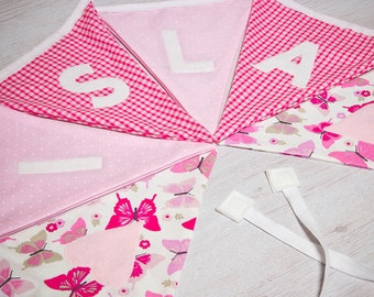 Personalised Bunting - Candy Flag - Name Banners - Baby Bunting