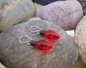 Red Christmas Light Earrings