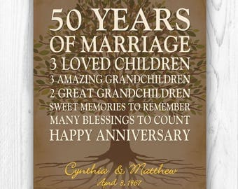 50th anniversary gift for parents anniversary gift golden anniversary 50th wedding anniversary grandparents gift - DIGITAL PRINTABLE JPEG