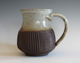 Pottery Coffee Mug, 13 oz, ceramic cup, handthrown mug, stoneware mug, pottery mug, unique coffee mug, ceramics and pottery