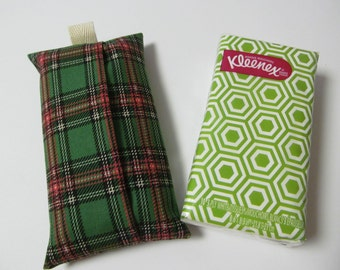 Tissue Case/Green Plaid